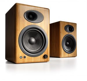 The Beautifully crafted A5+ desktop speakers from Audioengine