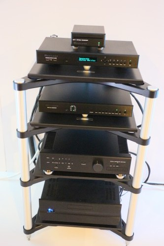 The all-Bryston system driving the PMC speakers.