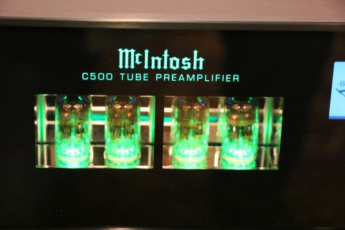 The unfamiliar green tubes of the McIntosh.