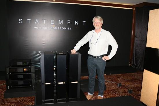 Nai';s sales director Doug Graham and the Naim Statement pre/power amps.