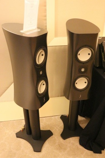 The Estelon standmount speakers looked curvaceous.