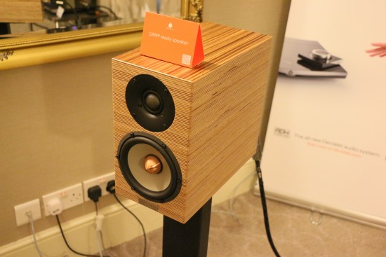 The Penaudio speakers also had a nice natural wood finish.