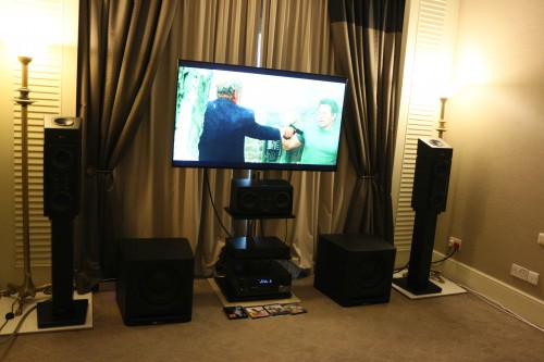 The XTZ Dolby Atmos system at the Living Audio room.