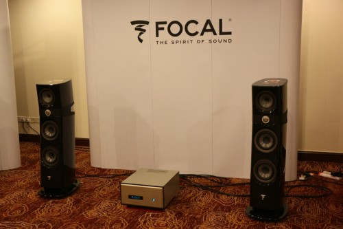 Our Help Desk was just outside the Focal room , so I popped in to listen to the new Focal Sopra No 2 speakers.