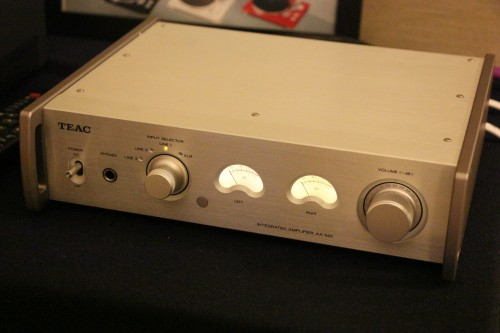 The lower-range Focal speakers were driven by a Teac integrated amp