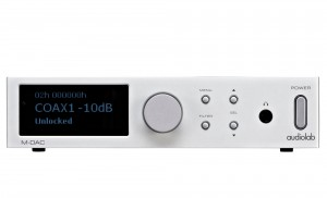 Half sized but fully functional, Audiolab's M-DAC from its Lab Series.