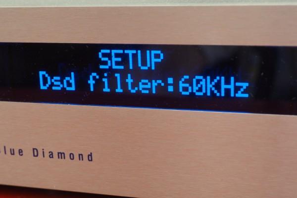 I set the DSD filter to 60kHz.